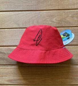 Bucket Hat Aba Média Vermelho
