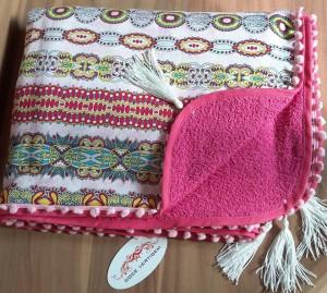 Canga Toalha Estampada/Pink REF0214