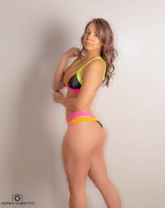 Conjunto Cancun Preto AmNeon/pink/laranja