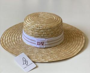 Chapéu Faixa Branco/Lurex Iniciais