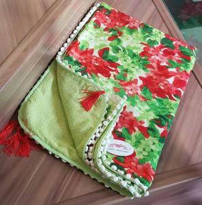Canga Toalha Verde/estampado REF 0228