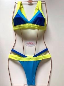 Conjunto Cancun Royal Turqueza/amarelo neon
