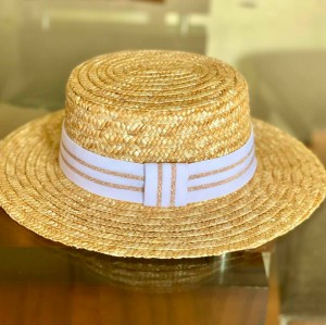 Chapéu Faixa Branco/Lurex